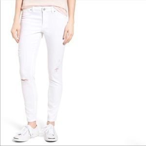 Caslon White Distressed Skinny Jeans NWT